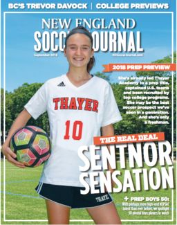 Ally Sentnor '22 Featured in New England Soccer Journal
