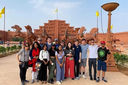 Thayer students visit sister school in India
