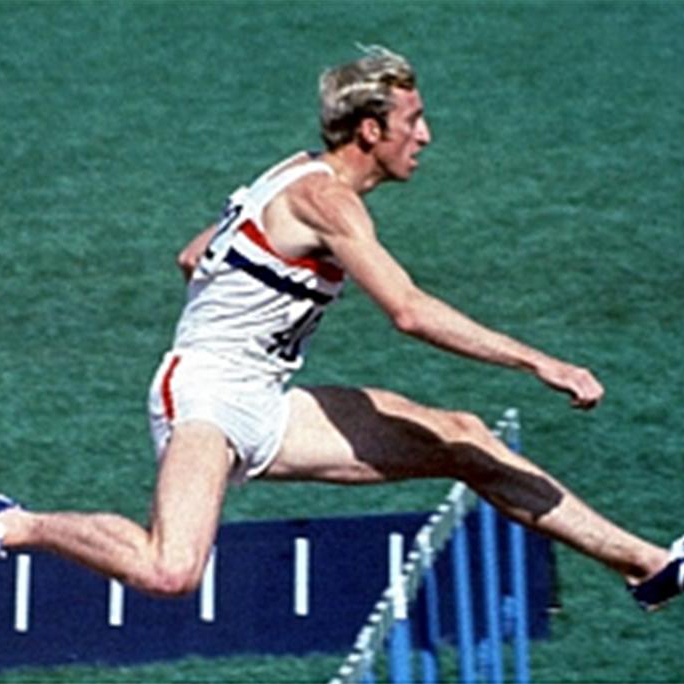 David Hemery running at the Olympics