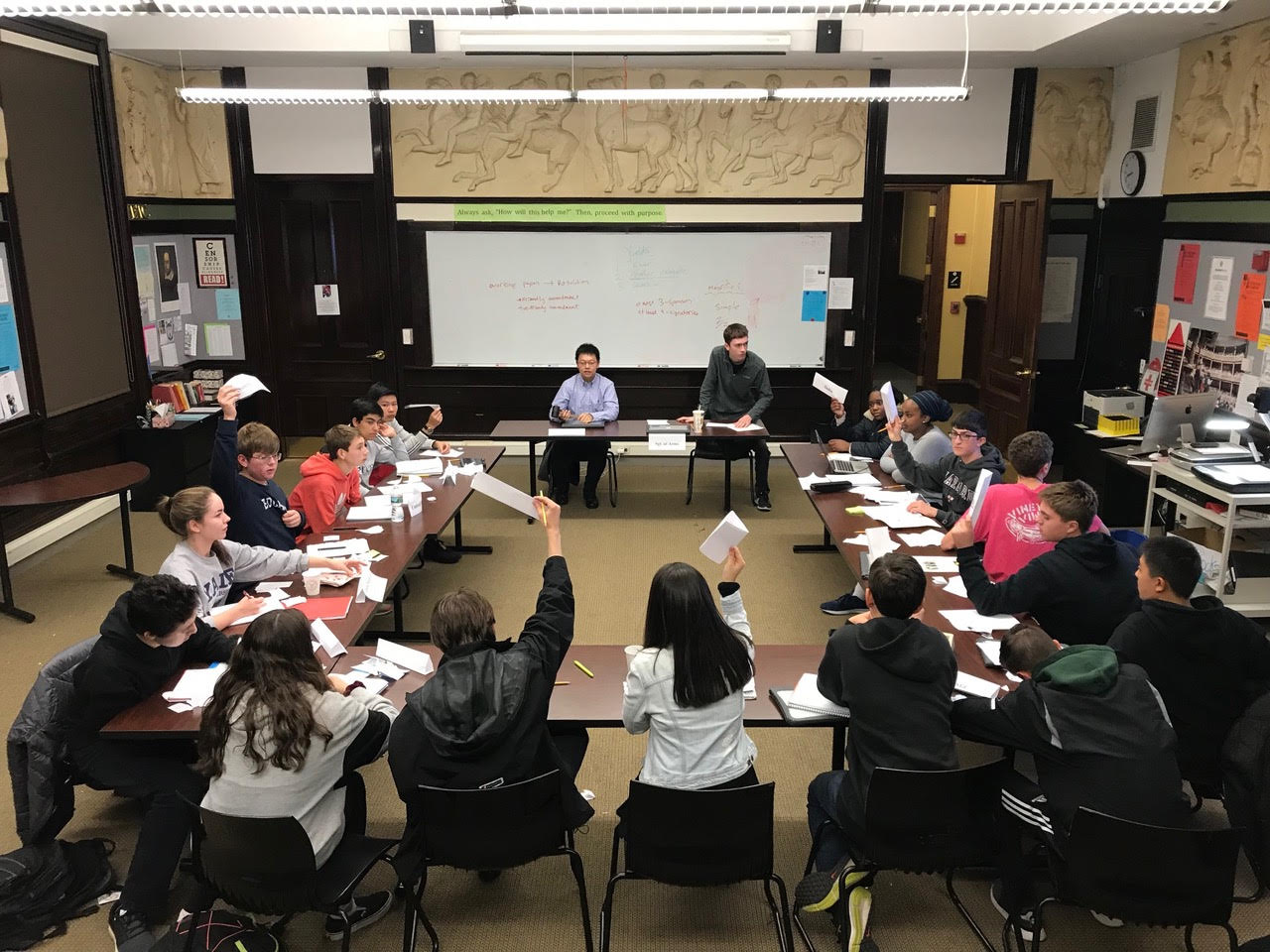 Thayer students debate in mock UN Conference