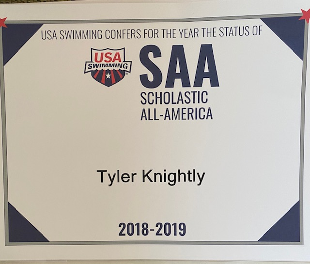 Thayer Academy Swimming Tyler Knightly 2