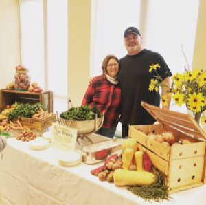 Chef Doug with Debbie Allen on Meet the Farmer Day