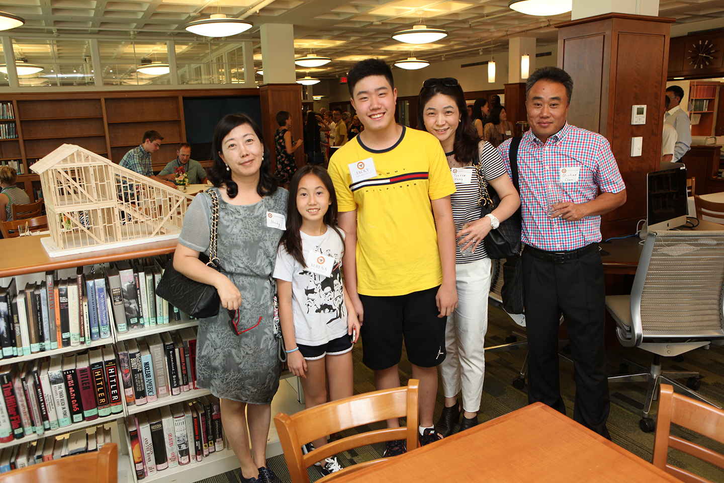International student and his family at the International Tea